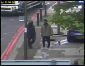 Fig. 116 – the man in the bottom right hand corner is only about 30  feet away from the two supposed murderers.