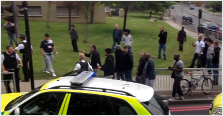 Fig. 219 – seemingly only at the end of the incident do most people in the bottom crowd get their cameras out.