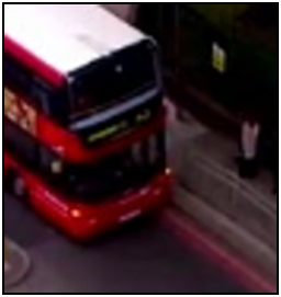 Fig.  278a – just before the paramedics arrive, and the bus has reversed to be clear of the railings.