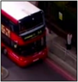 Fig.  278c – the whole of the left-most door-glass is blocked by a body – someone has moved to get off the bus.