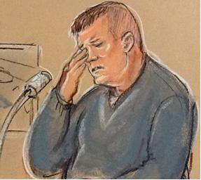 Fig. 39 – James Heneghan, crying as he testified.
