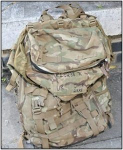 Fig. 46 – the image of Rigby's ruck sack.